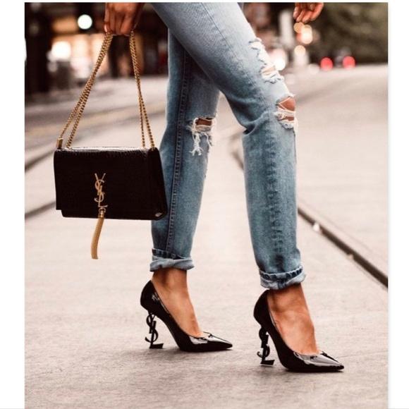 317a38cd05c Saint Laurent Shoes | Black Signature Ysl Heel Pumps 36 | Poshmark